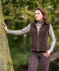 brown Sally Fleece Waistcoat by Baleno