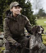 sitting with a dog Lady Christine Waterproof Jacket by Deerhunter