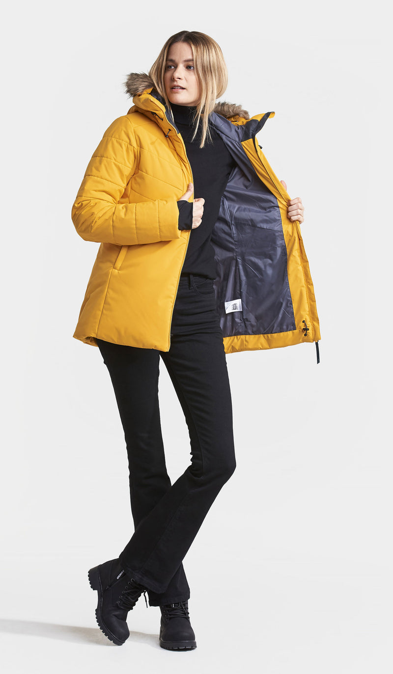 Showing the quilted lining Didriksons Nana Padded Women's Jacket