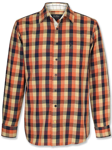 Jack Murphy Ciaran Shirt in Burnt Fig Check