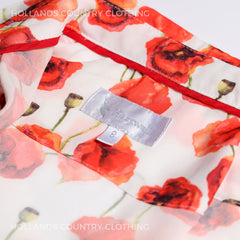 Collar detail red poppy shirt