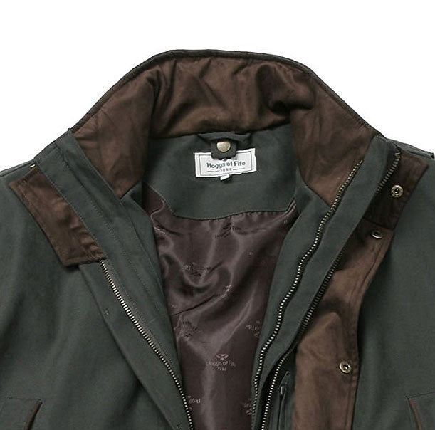 collar detail for Hoggs Ranger 3 in 1 Waterproof Field Jacket
