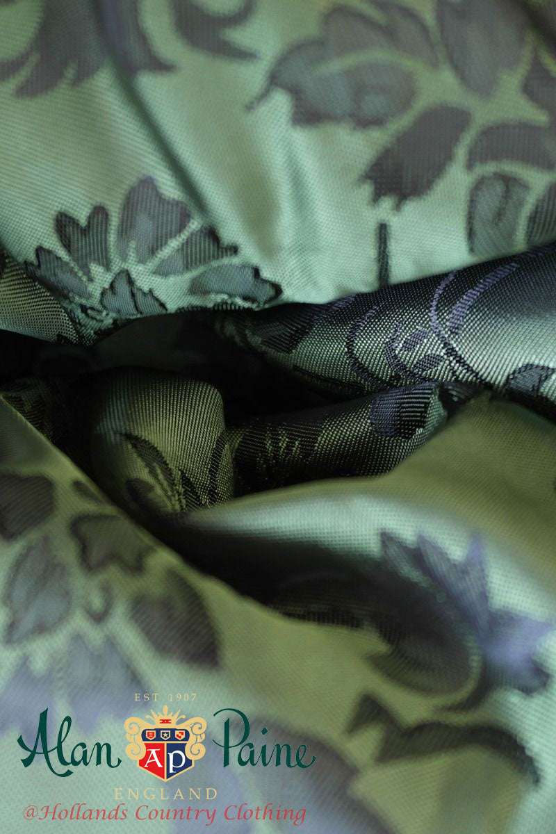 delightful silky lining in green