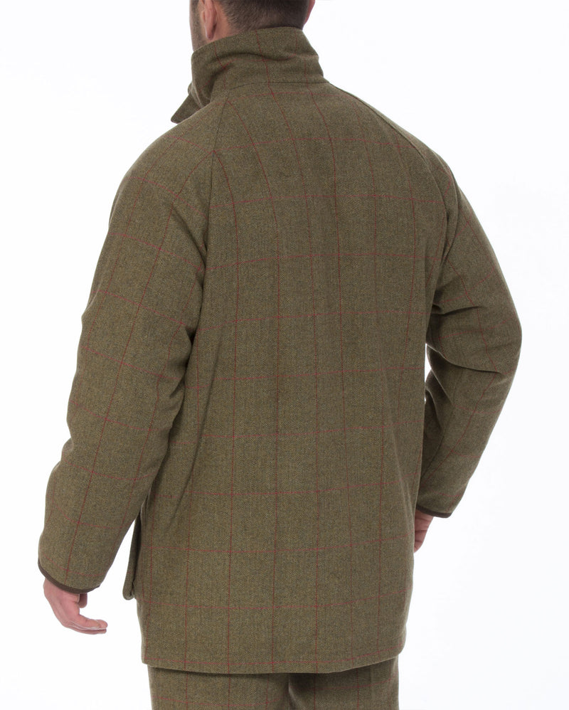 reverse view Combrook Men's Tweed Shooting Coat by Alan Paine