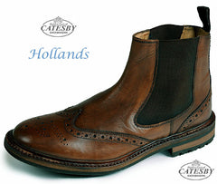 Catesby Brogue Dealer Commando Sole Boot Rich Brown