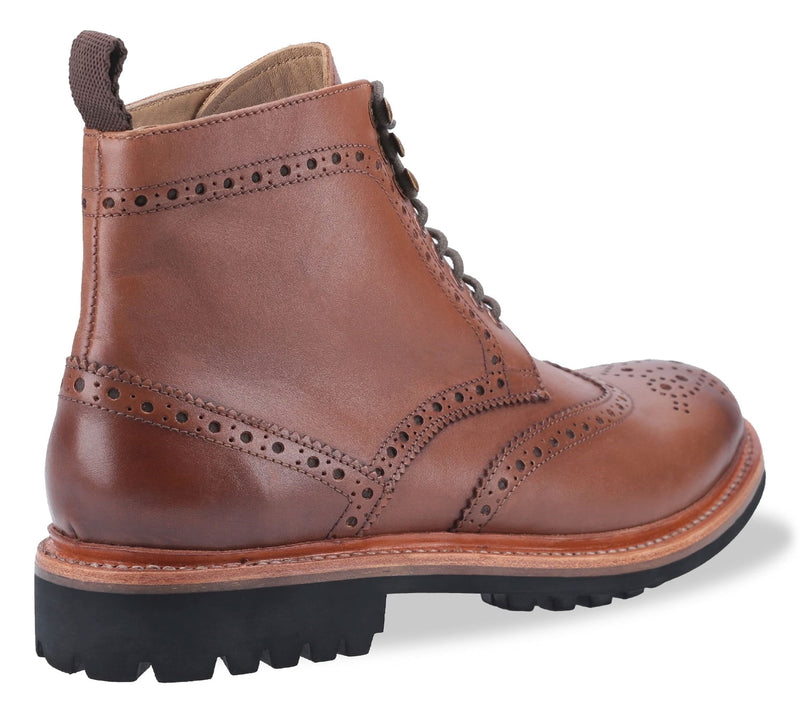 Burnished brown with leather welt goodyear sole