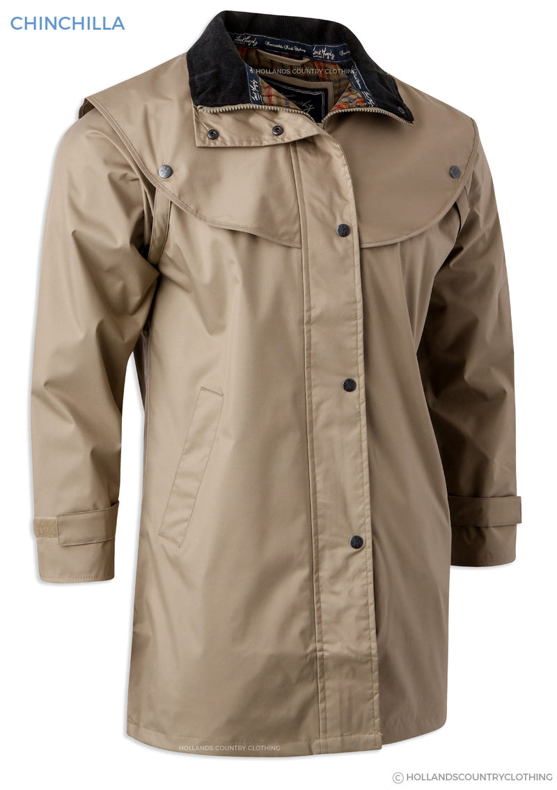 jack murphy chinchilla three quarter length long waterproof coat