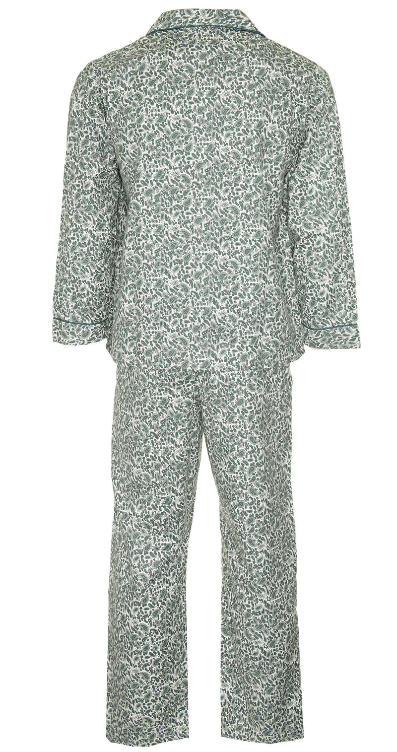 green back Champion Paisley Pyjamas 100% Cotton