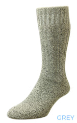 grey HJ Hall Cotton Rich Boot Sock