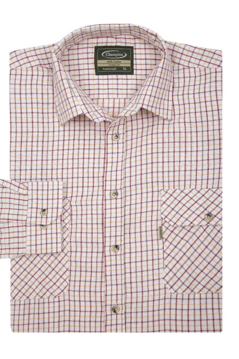 red Champion Tattersall Shirt, the classic country check shirt