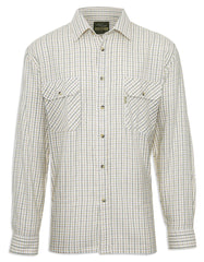 Champion 100% Cotton Tattersall Check Shirt green and brown