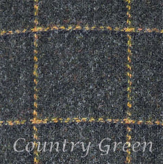 country green tweed swatch