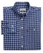 Navy tartan shirt with button down collar from champion outdoor clothing