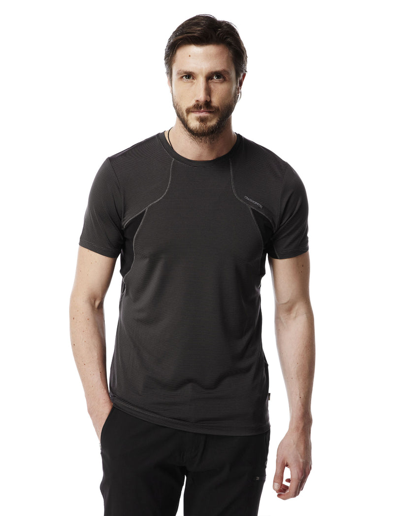 man's black pepper Fusion T-Shirt by Craghoppers