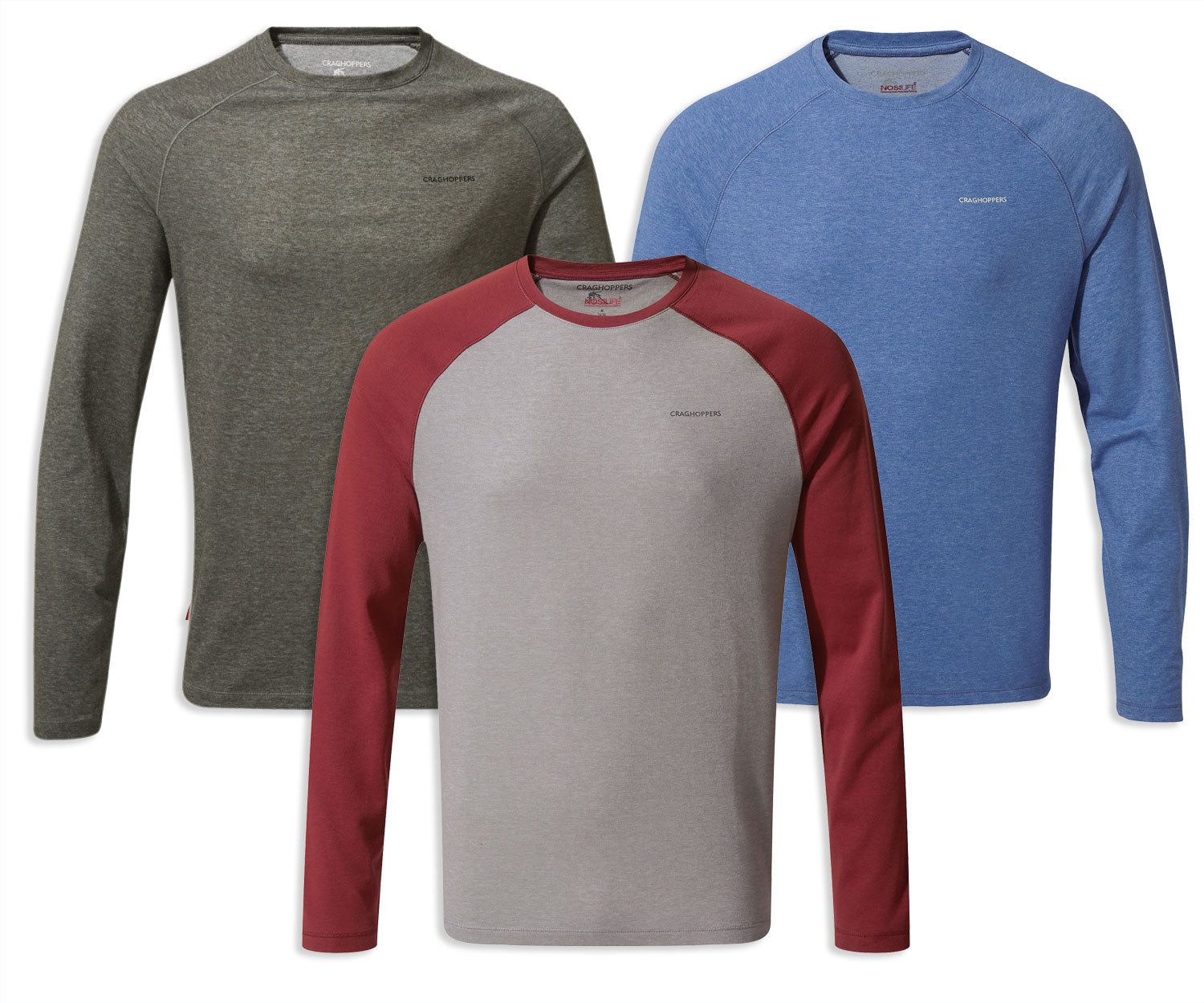 Craghoppers NosiLife Bayame Long Sleeved Tee in three colours