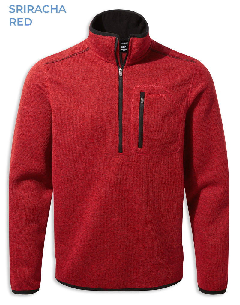 Sriracha Red Craghoppers Etna Half Zip Fleece