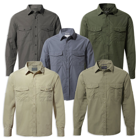 Craghoppers Kiwi Long Sleeved Shirt in five colours