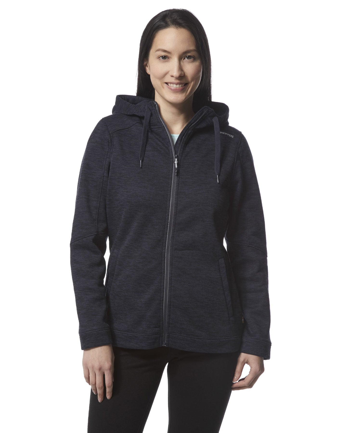 Woman wearing Craghoppers Ladies Strata Hoodie