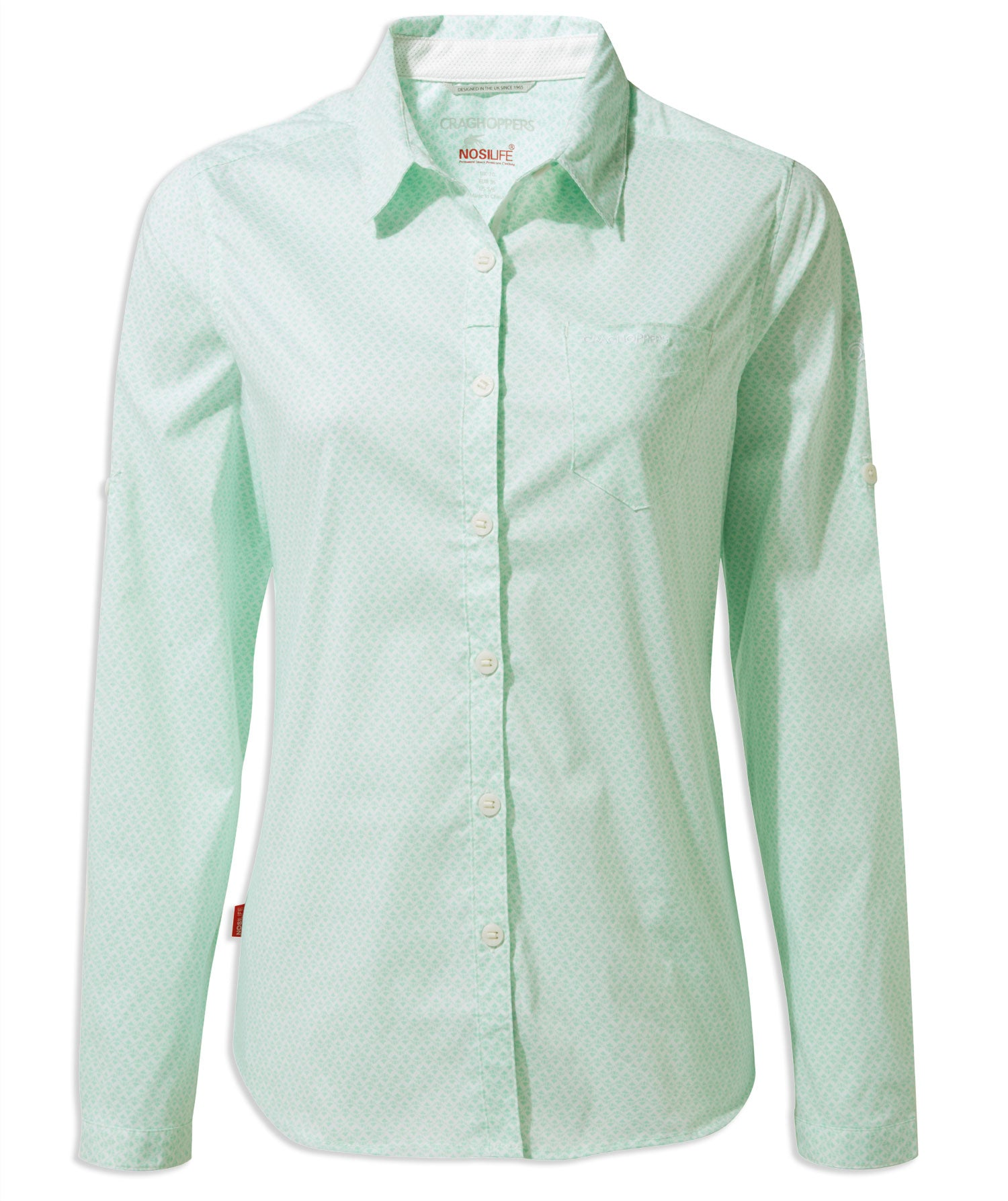 Craghoppers NosiLife Verona Long Sleeve Shirt in Capri Blue