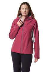 Lady wearing Craghoppers Horizon Waterproof Jacket | Amalfi Rose