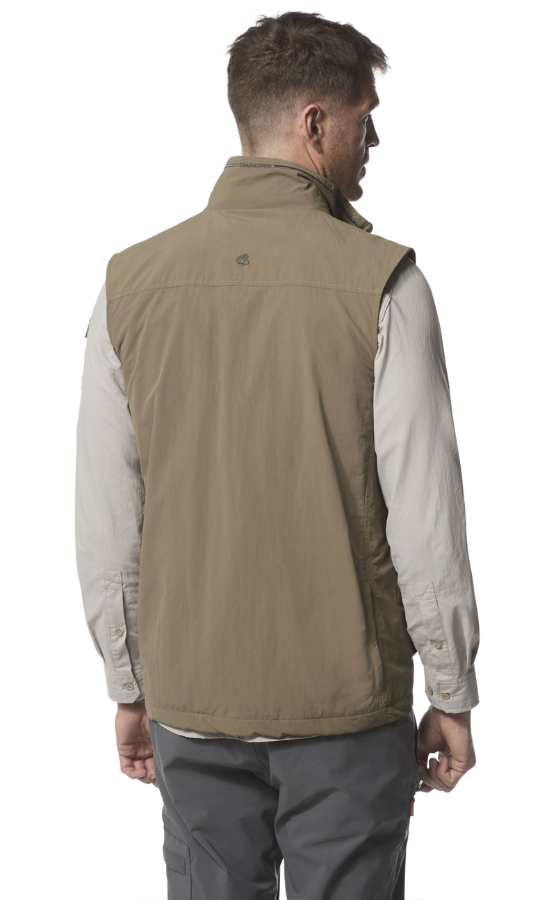 rear view stone colour Adventure II Multi-pocket Gilet by Craghoppers