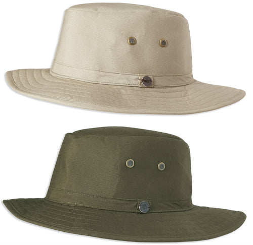 Craghoppers Kiwi Bush Ranger Hat Rubble and Dark Khaki