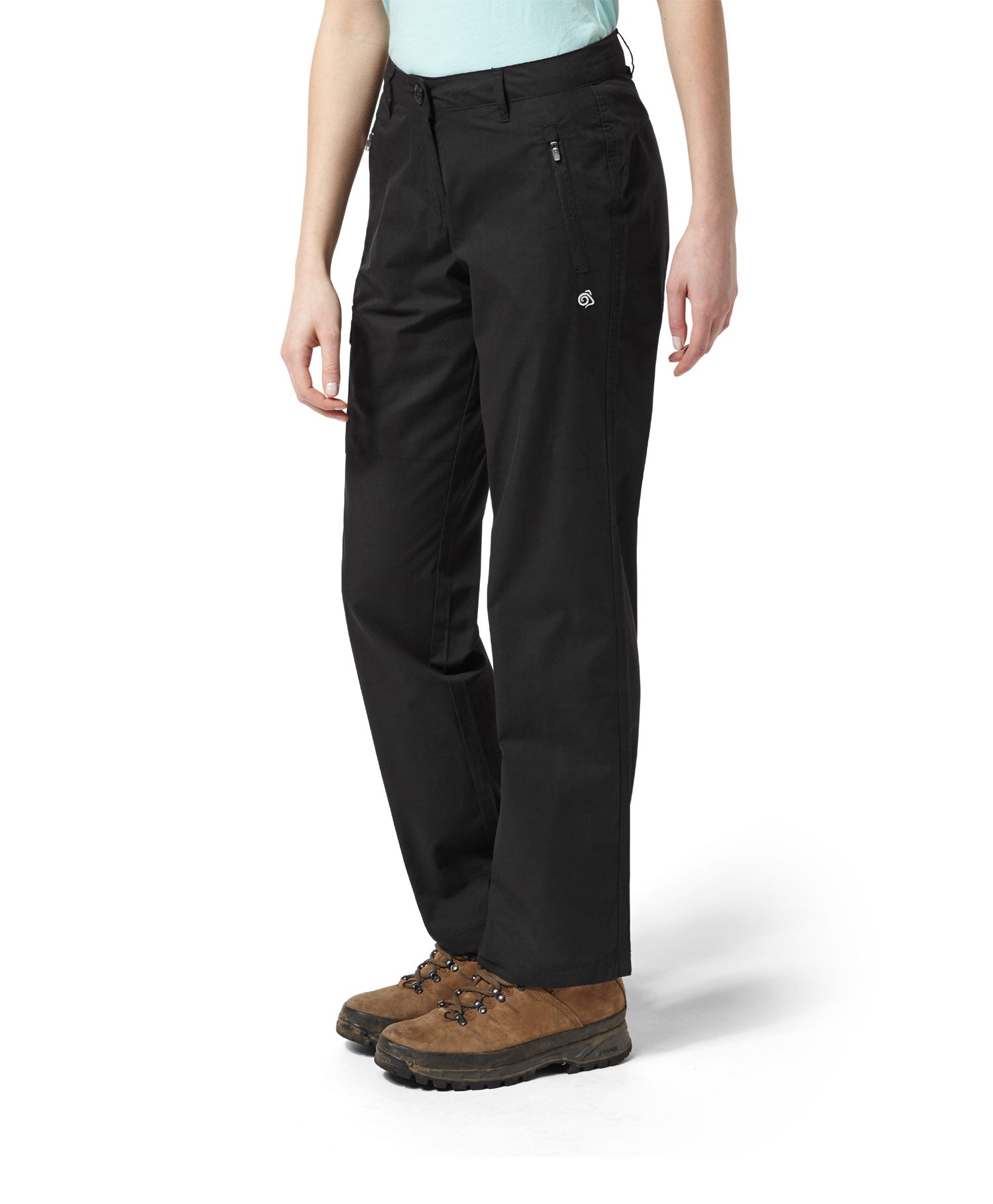 walking in Ladies Traverse Trail Trousers by Craghoppers