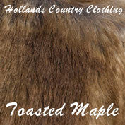Toasted maple faux fur