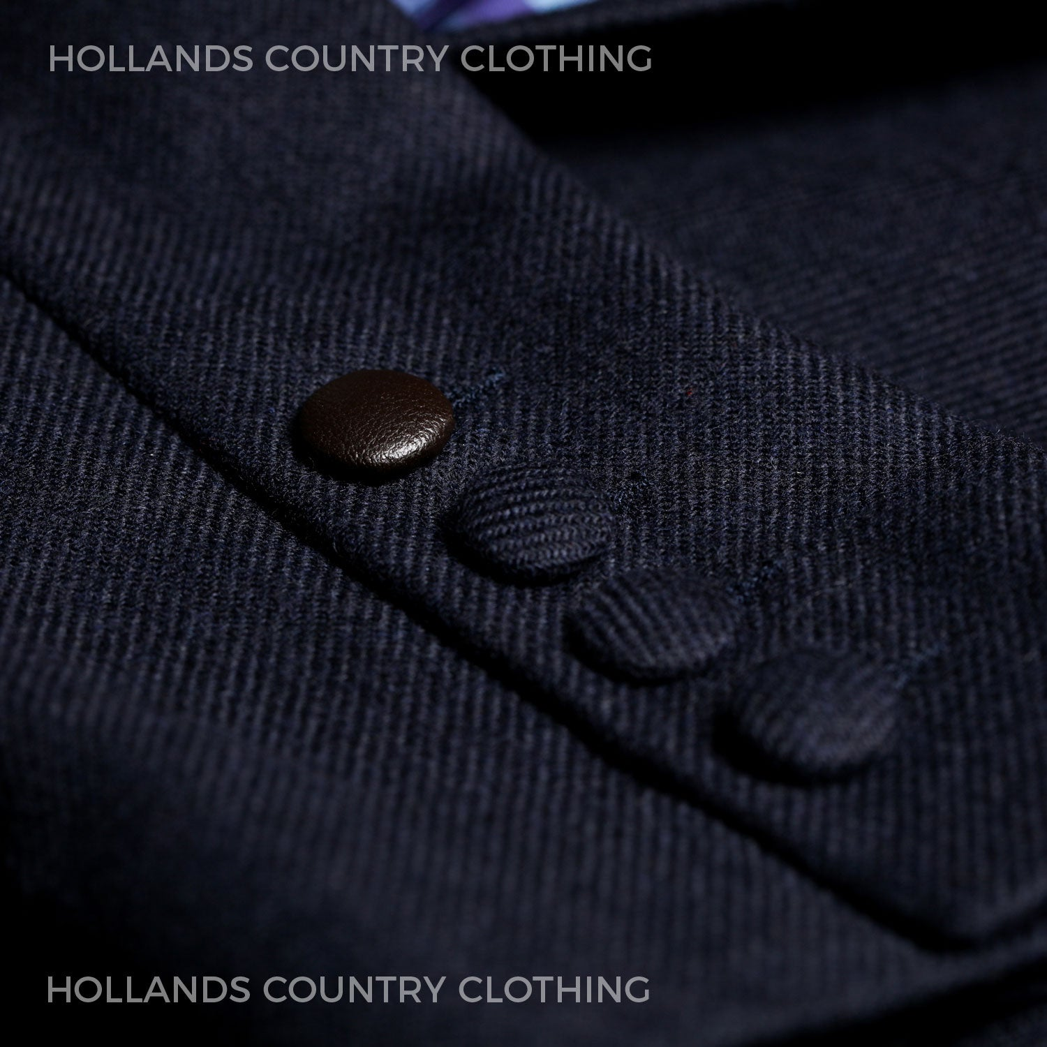 Cuff button detail Hartwell Paris Country Jacket | Navy