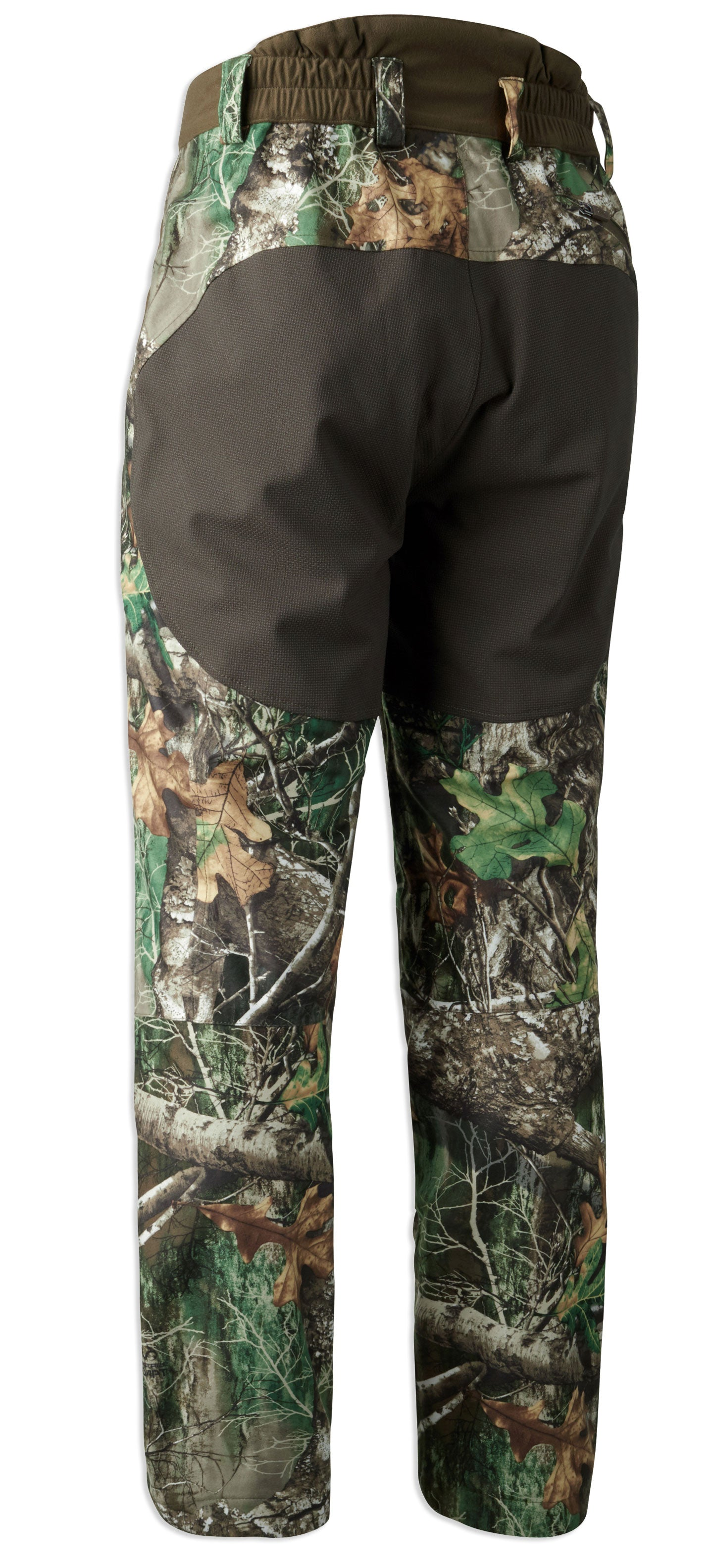 rear view Deer-x Dura reinforcement on wear points for a stretchable tough reinforcement without compromising movement