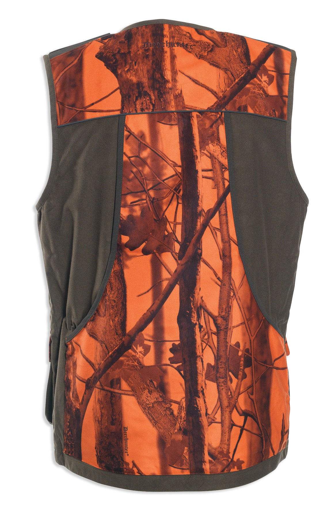 rear view Deerhunter Cumberland PRO Waistcoat in innovation blaze orange for hunters