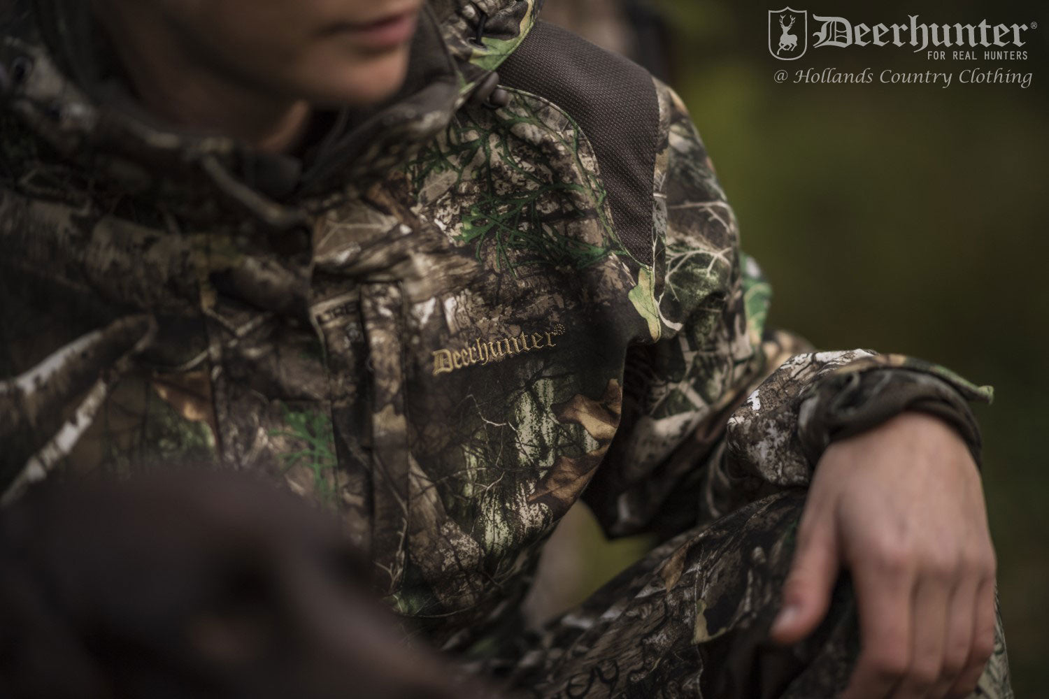 close up of Deerhunter Lady Christine Trousers | Adapt Camouflage