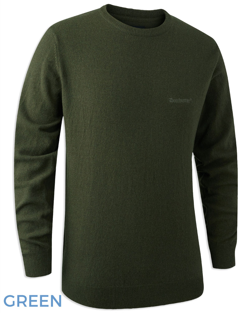 Green Deerhunter Brighton Knitted Crew-neck Sweater