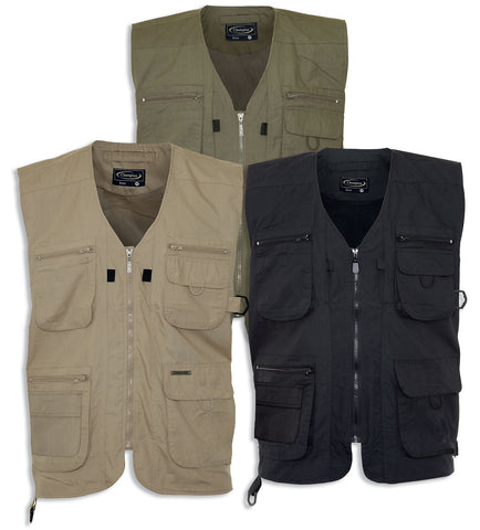 Dale (Mark II) Lightweight Multi-Pocket Bodywarmer/Vest in olve black and stone