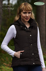 Champion Danehill Ladies Hooded Gilet in black