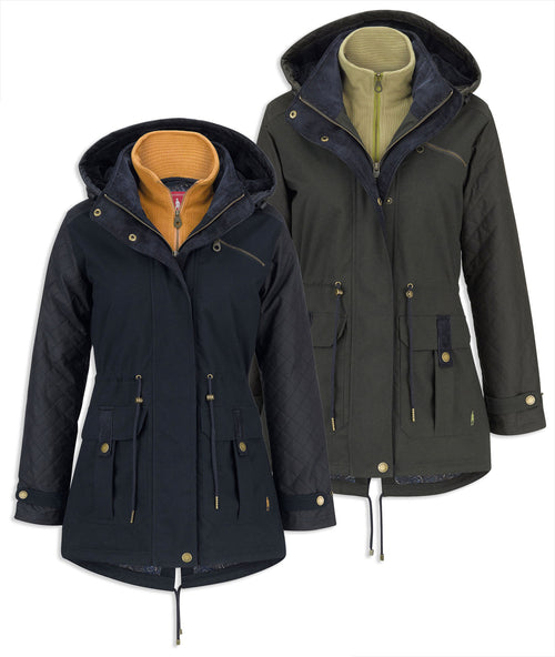 Jack Murphy Danny Waterproof Coat in navy and olive
