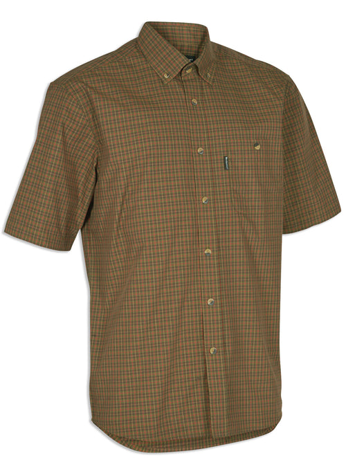 Deerhunter Nikhill Short Sleeve Shirt red and green country tartan