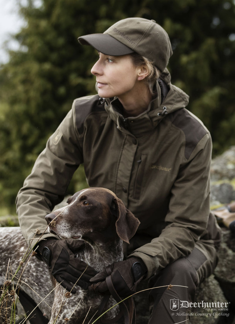petting a dog Lady Christine Waterproof Jacket by Deerhunter