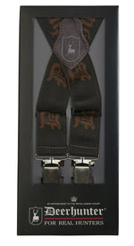 Deerhunter Branded Braces With Clips - 130cm