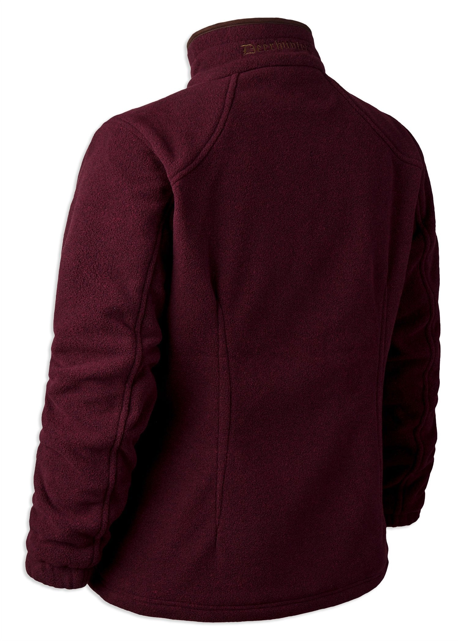 Back View  Burgundy Deerhunter Lady Josephine Fleece with Stormliner