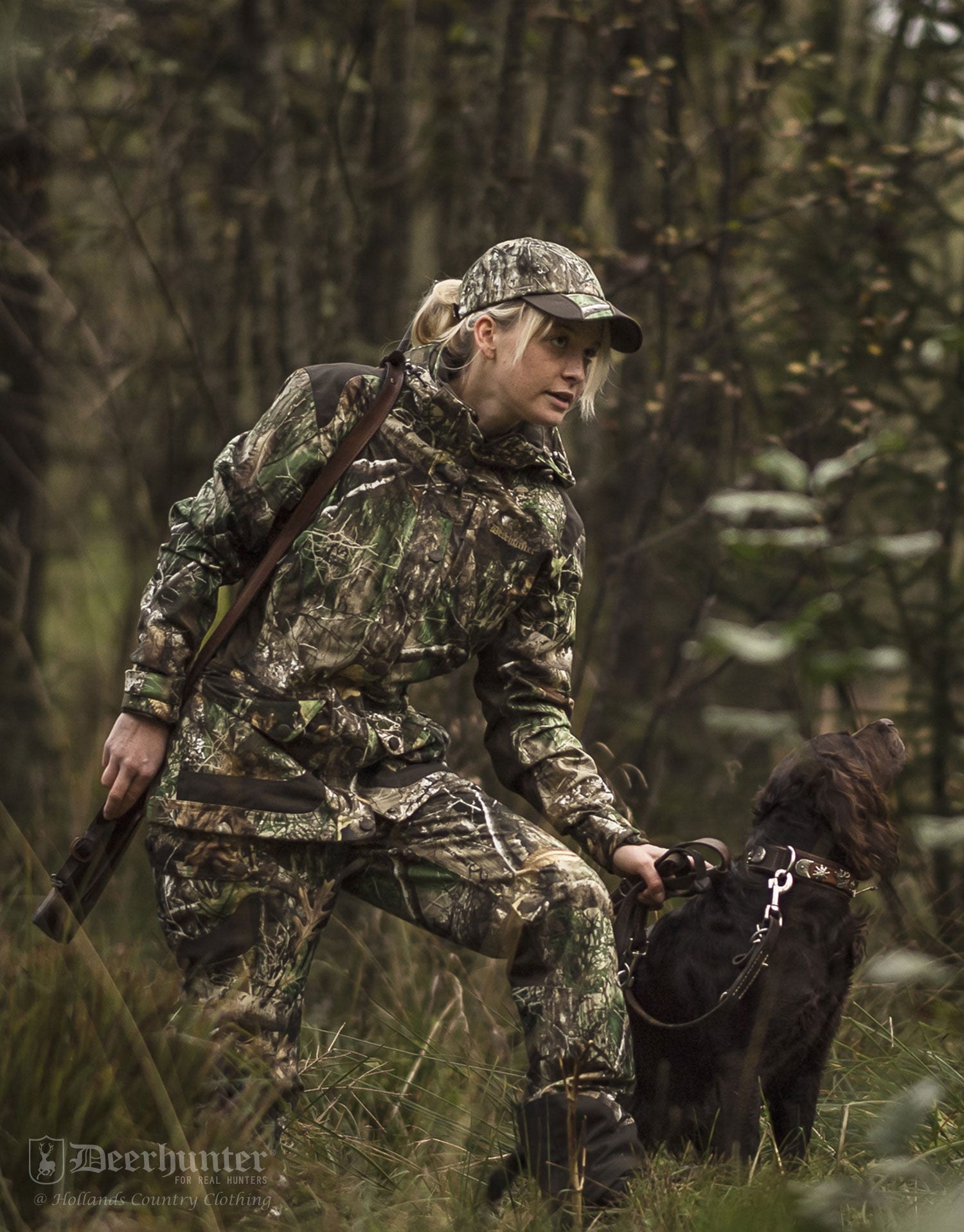 hunting with Deerhunter Lady Christine Trousers | Adapt Camouflage