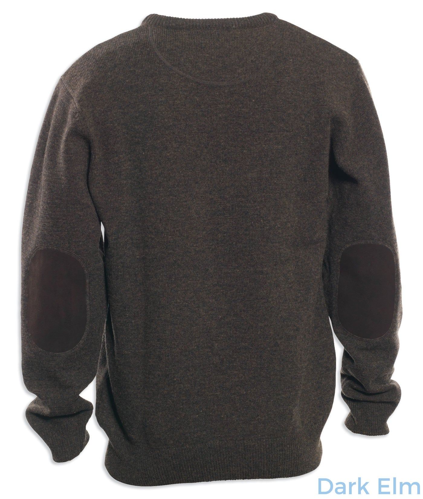 dark elm back Deerhunter Lambswool Crew Neck Pullover