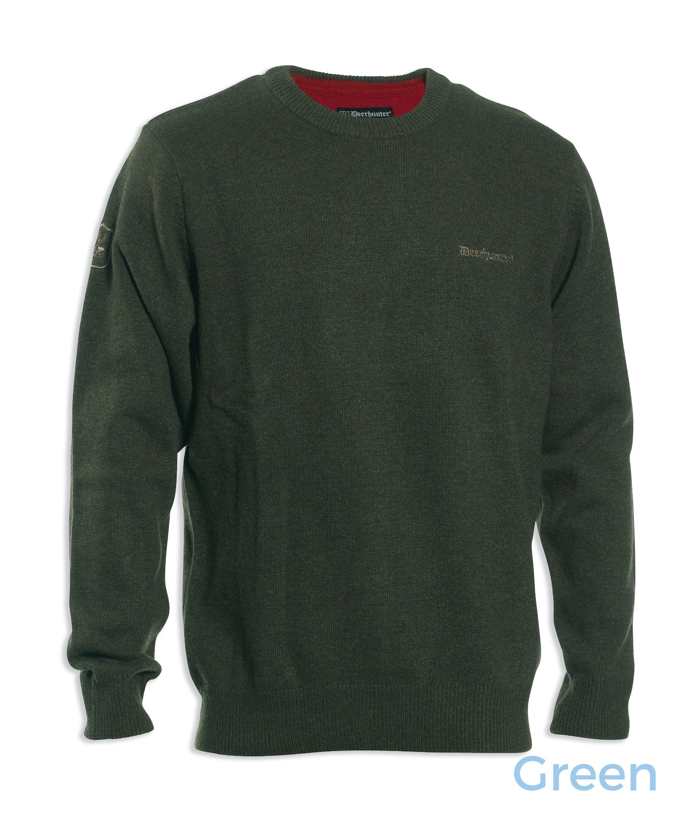 green Deerhunter Hastings Knit O-neck Sweater