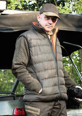 man wearing Deerhunter Attack Reversible Waistcoat
