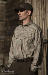 man wearing Deerhunter Ridley Bamboo Check Shirt