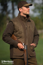 canteen green Deerhunter Gamekeeper Fleece Shooting Gilet