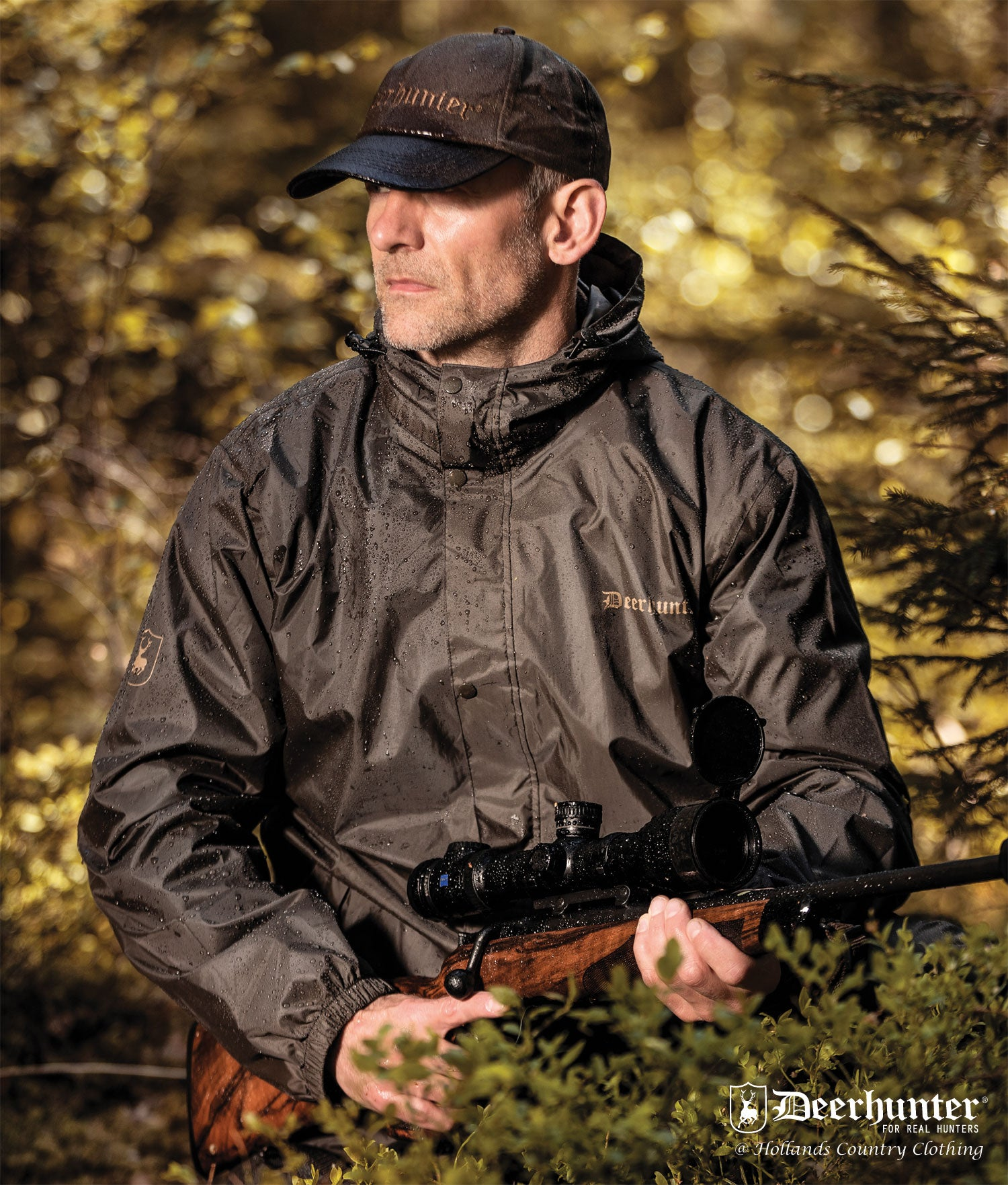 shooting with Deerhunter Survivor Packable Rain Jacket