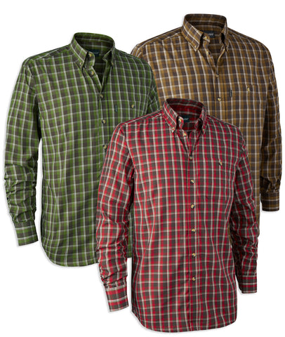 Deerhunter Chris Check Shirt | Red, Green, Brown