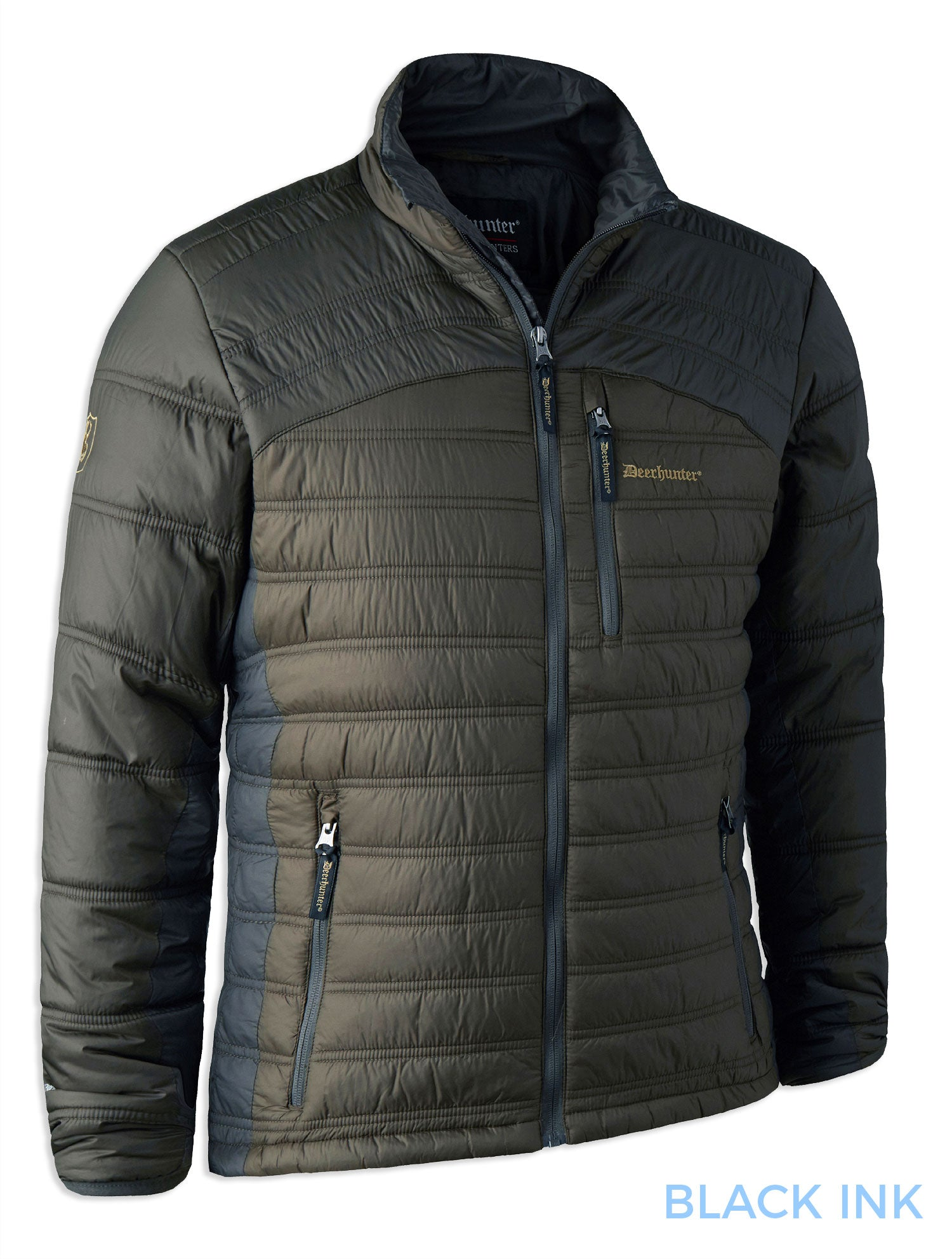Verdun Quilted jacket with thinsulate padding Black Ink (three colour combination, Green/Brown/Black)