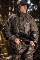 msn wearing Deerhunter Survivor Packable Rain Jacket
